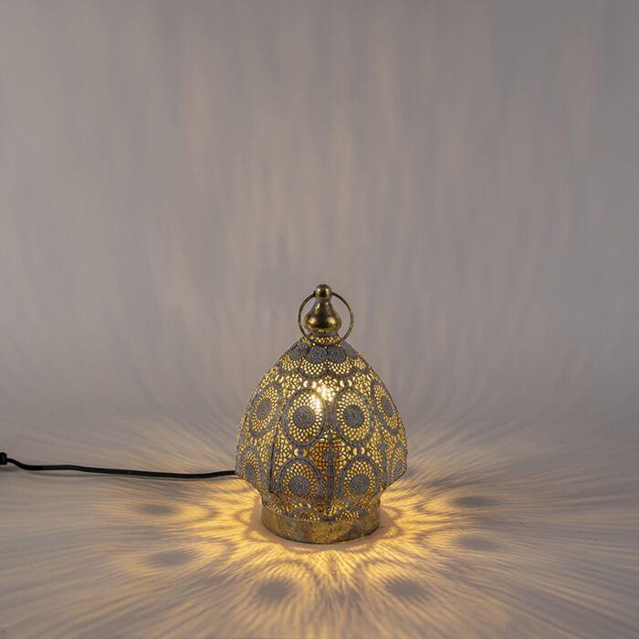 Lampe-de-table-orientale-doré-19-cm---Mowgli