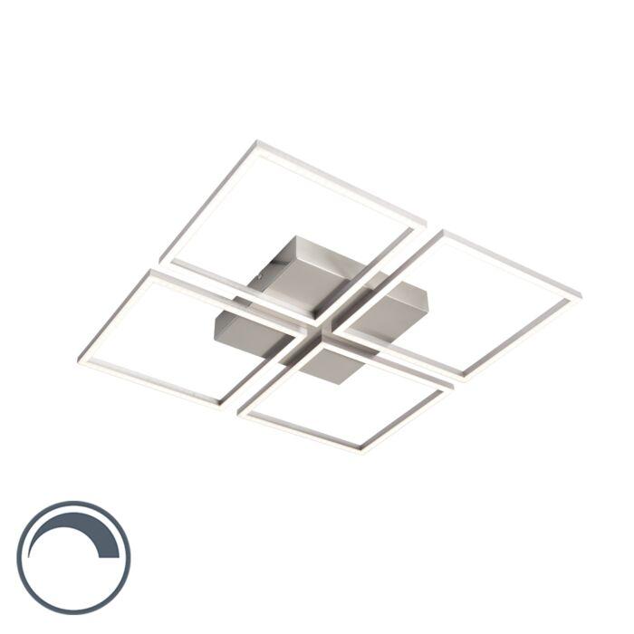 Plafonnier-design-en-acier-avec-LED-et-dimmer---Place-4