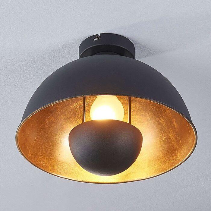 Plafonnier-industriel-noir-et-or---Magna
