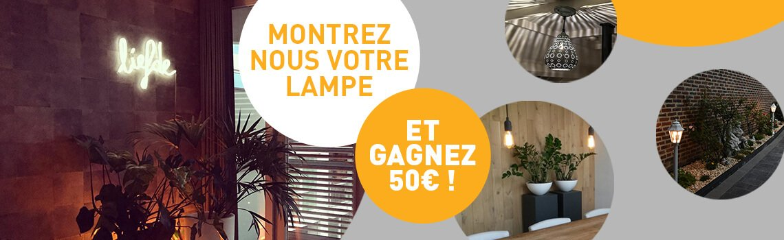 Lampenlicht concours photo banner