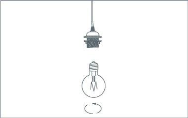 Étape 5. Serrez la lampe