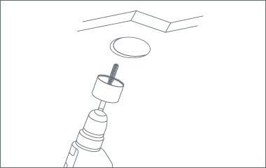 Étape 2. Les trous pour les spots dans le plafond