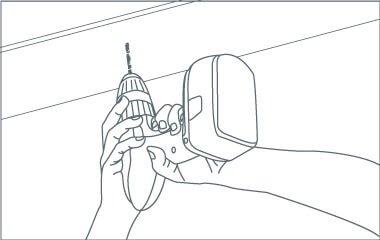 Étape 4. Fixez la plaque de plafond au plafond