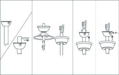 Étape 3. Fixez le capot du ventilateur et fixez le tuyau de raccordement