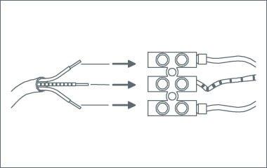 Étape 3. Fixez les fils d'alimentation à la couronne